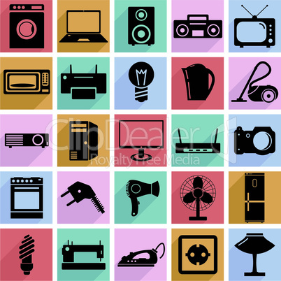 Electrical devices symbols.