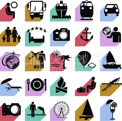 Travel symbols.