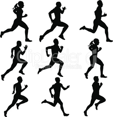 Runners on sprint