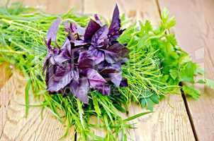 Basil purple with tarragon and parsley
