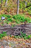 Cartwheels near the fence