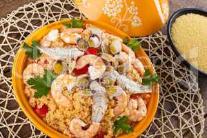 Traditional ethnic food: fish tajine