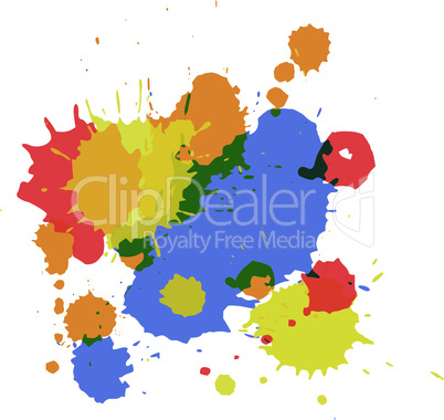 Vector isolated spot blots.eps
