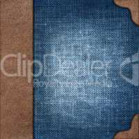 cloth cover album with leather  rootlet
