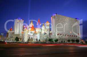 las vegas - circa 2014: the excalibur hotel and casino on circa