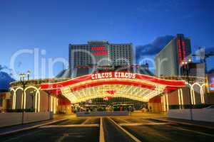 las vegas january 31: the circus circus hotel and casino on janu