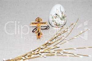Easter egg and cross