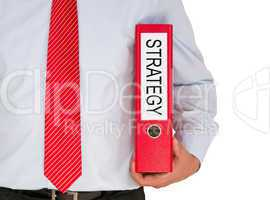 strategy - businessman with binder