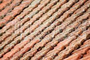 historische Dachziegel in Italien