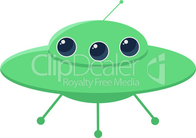 retro UFO vector illustration