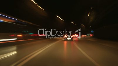 Traffic timelapse by night
