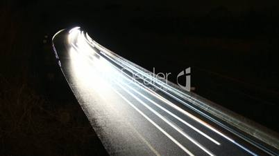 traffic timelapse by night