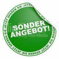 3d aufkleber grün - sonderangebot!
