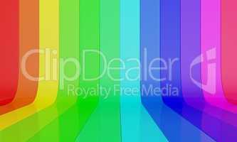 regenbogen farbwand