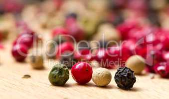 dry multicolored peppercorn