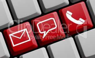 Online Kontakt: Mail, persönlich oder per Telefon