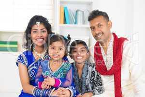 happy indians family