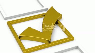 The golden check