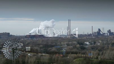 factory pollution traffic time lapse 11266