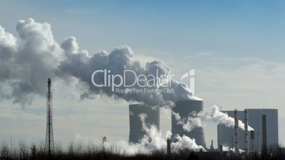 coal power station pollution time lapse 11275
