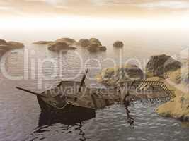 old wreck - 3d render