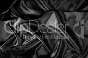 Shiny black satin fabric
