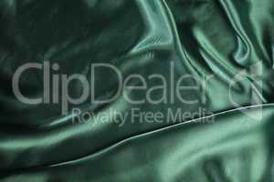 Shiny green satin fabric