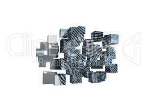 Fingerprint on abstract screen