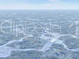 ocean swirled - 3d render