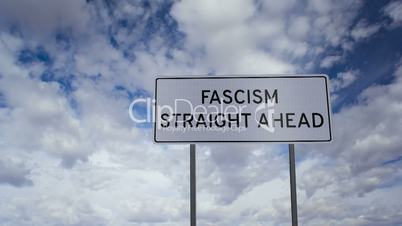 Sign Fascism Clouds Time-lapse