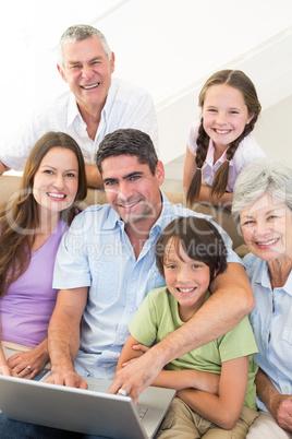 Loving multigeneration family spending leisure time