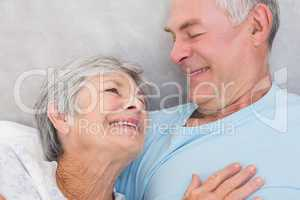 Affectionate senior couple looking at each other