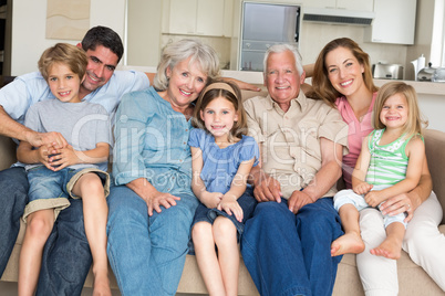Family spending leisure time