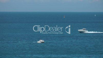 Motorboats vacations sea summer