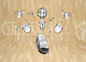 Composite image of profit doodle