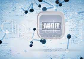 Composite image of audit banner on abstract screen