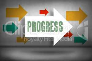Progress against arrows pointing