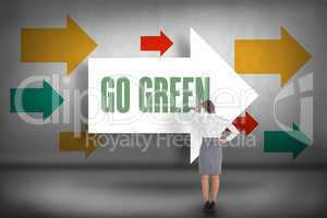 Go green against arrows pointing