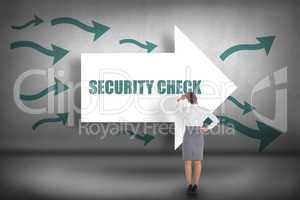Security check against arrows pointing