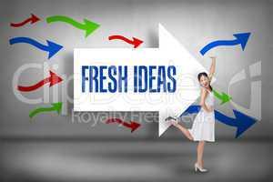 Fresh ideas against arrows pointing