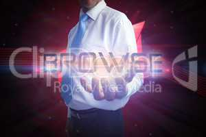Businessman presenting the word browse