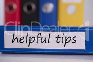 Helpful tips on blue business binder