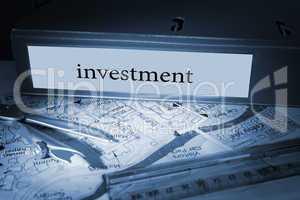 Investment on blue business binder