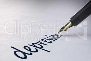 Fountain pen writing Depression