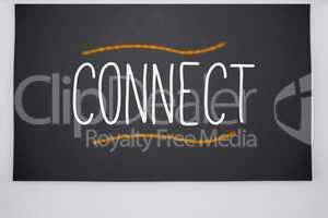 Connect written on big blackboard