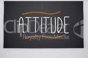 Attitude written on big blackboard