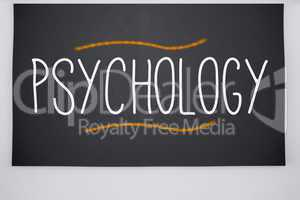 Psychology written on big blackboard