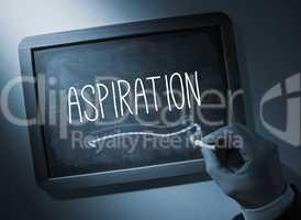 Hand writing Aspiration on chalkboard