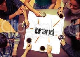Student sitting around page say Brand