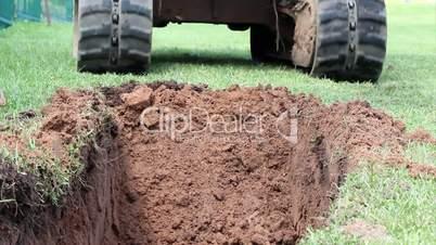 Digger excavator machinery